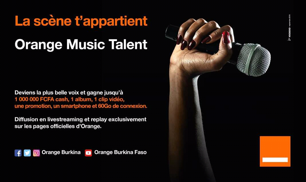 Burkina: Orange Musique Talent, lancé